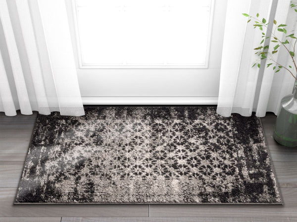 Manchester Grey Modern Distressed Rug