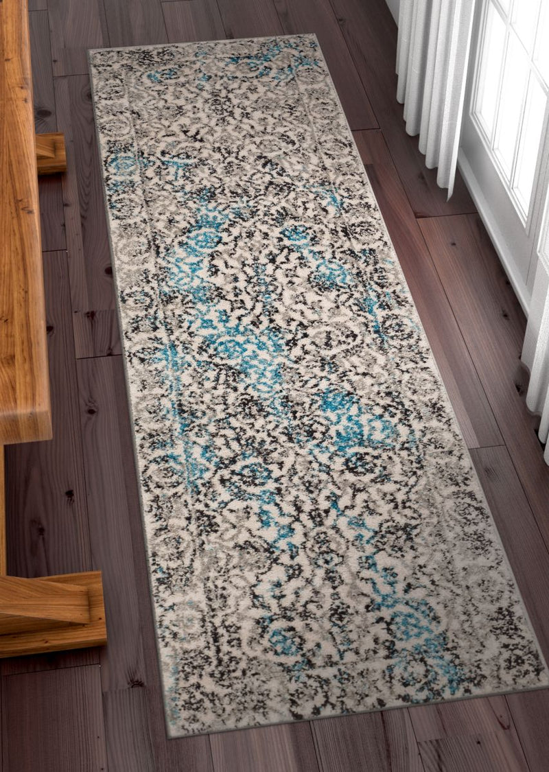 Sheffield Blue Traditional Rug