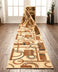 Prescott Custom Size Runner Contemporary Natural 27 Inch Wide x Choose Your Length Hallway Runner Rug