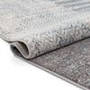 Laken Geometric Distressed Grey Rug