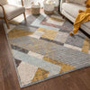 Jacey Geometric Distressed Grey Rug