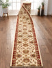 Abbasi Custom Size Runner Traditional Ivory Choose Your Width x Choose Your Length Hallway Runner Rug