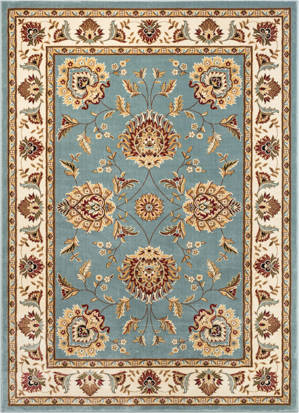 Abbasi Light Blue Traditional Rug
