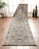 Abbasi Custom Size Runner Traditional Grey Choose Your Width x Choose Your Length Hallway Runner Rug