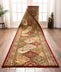 Mina-Khani Custom Size Runner Traditional Red Choose Your Width x Choose Your Length Hallway Runner Rug