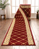 Fleur De Lis Custom Size Runner Formal Red Choose Your Width x Choose Your Length Hallway Runner Rug