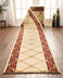Fleur De Lis Custom Size Runner Formal Ivory Choose Your Width x Choose Your Length Hallway Runner Rug