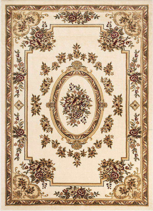 Le Petit Palais Ivory Traditional Rug