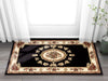 Le Petit Palais Black Traditional Rug