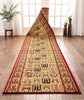 Cordelia Garden Custom Size Runner Traditional Red Choose Your Width x Choose Your Length Hallway Runner Rug