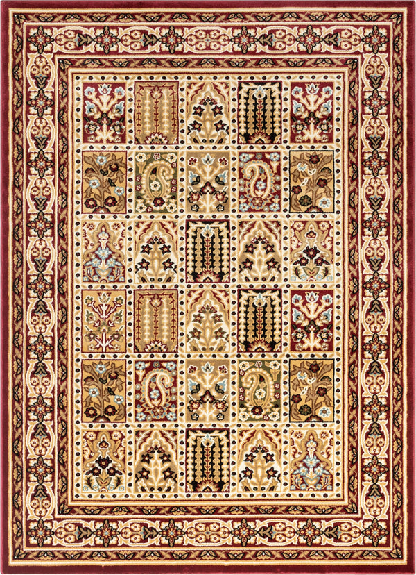 Cordelia Garden Red Traditional Rug