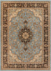 Medallion Kashan Light Blue Traditional Rug