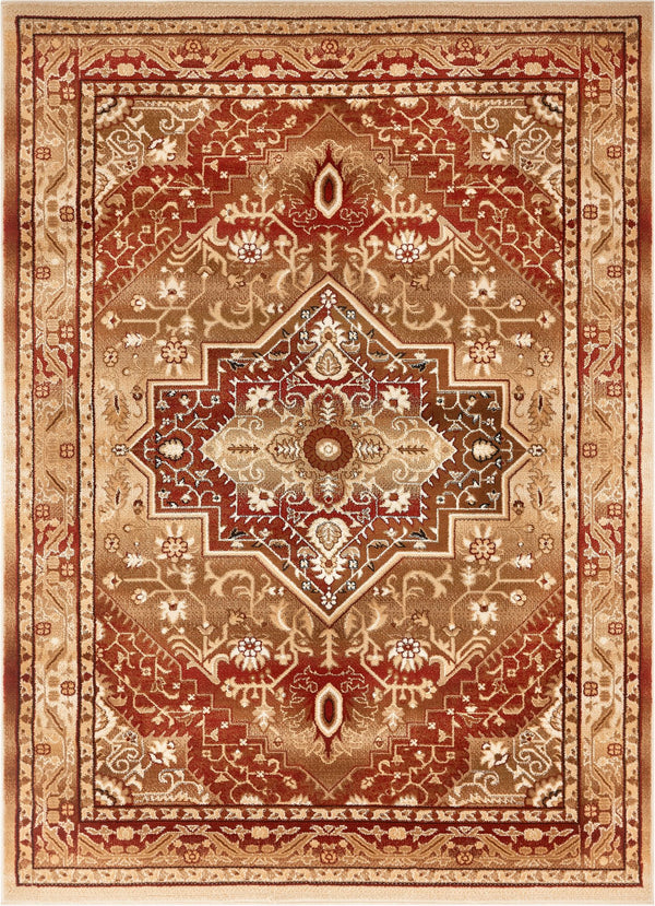 Kaibab Red Traditional Medallion Rug
