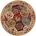 Wentworth Panel Ivory Traditional Round Rug