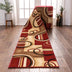 Arcs & Shapes Custom Size Runner Modern Red 27 Inch Wide x Choose Your Length Hallway Runner Rug
