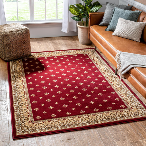 Hudson Terrace Red Traditional Rug
