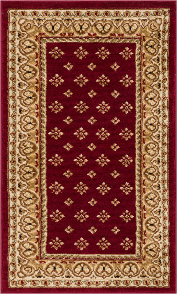 "Hudson Terrace Transitional Red 31"" Square Area Rug"