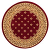 Hudson Terrace Red Traditional Round Rug