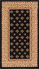 "Hudson Terrace 31"" Square Black Traditional Rug"