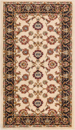"Sarouk Traditional Ivory 31"" Square Area Rug"