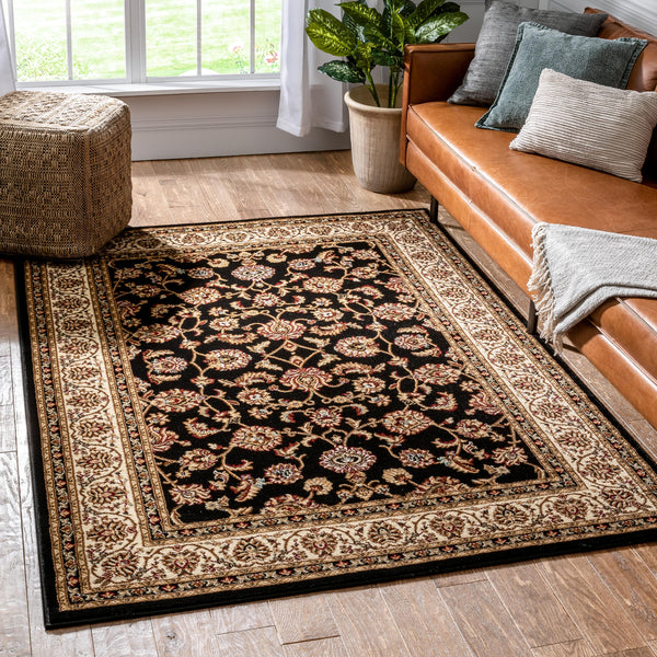 Sarouk Black Traditional Rug