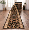 Sarouk Custom Size Runner Traditional Black 27 Inch Wide x Choose Your Length Hallway Runner Rug