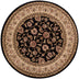 Sarouk Black Traditional Round Rug