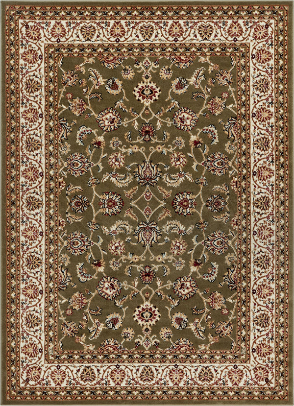 Sarouk Green Traditional Rug