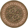 Sarouk Green Traditional Round Rug