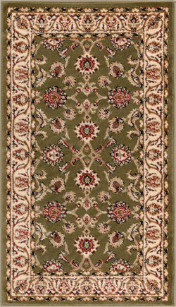 "Sarouk Traditional Green 31"" Square Area Rug"
