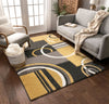 Galaxy Waves Gold Modern Rug