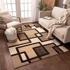 Imagination Squares Cream Modern Rug