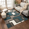 Imagination Squares Blue Modern Rug
