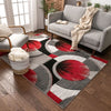 Yolo Red Grey Modern Rug