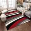 Rad Waves Red Modern Rug