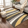 Rad Waves Gold Modern Rug