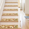"Flora Modern Ivory Non Slip 9"" x 31"" Stair Tread (Set of 7)"