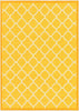 Brooklyn Trellis Gold Modern Non Slip Washable Rug