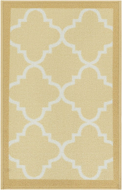 Brooklyn Trellis Beige Modern Non Slip Washable Rug