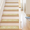 "Brooklyn Trellis Modern Beige Non Slip 9"" x 31"" Stair Tread (Set of 7)"