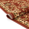 Tabriz Custom Size Runner Traditional Red 22 Inch Wide x Choose Your Length Machine Washable Hallway Runner Rug