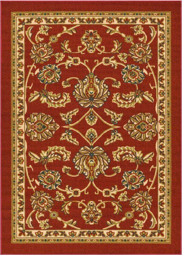 Tabriz Red Traditional Non Slip Washable 5' x 7' Area Rug