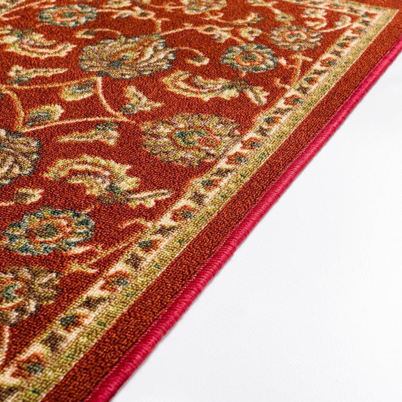Tabriz Red Traditional Non Slip Washable Rug Well Woven