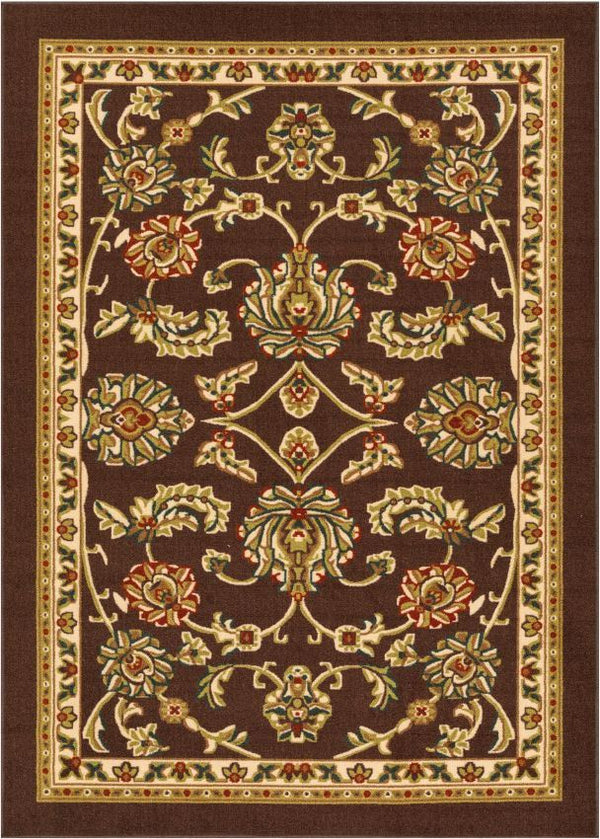 Tabriz Black Traditional Non Slip Washable Rug