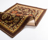 Tabriz Brown Traditional Non Slip Washable Rug