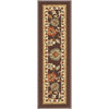 "Tabriz Traditional Brown Non Slip 9"" x 31"" Stair Tread (Set of 7)"