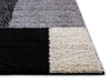Cubes Black Contemporary Rug