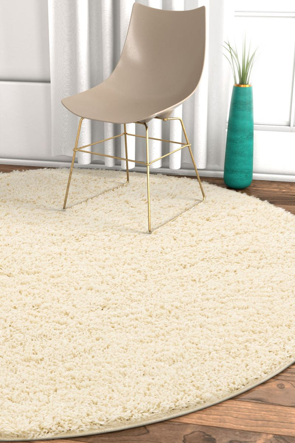 Plain Vanilla Contemporary Round Rug