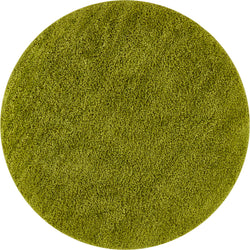 Plain Green Solid Round Rug