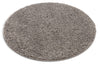 Plain Grey Solid Round Rug